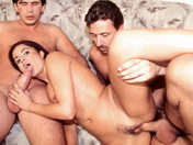 Aphrodite treats herself to two huge cocks in the butt! porn video
