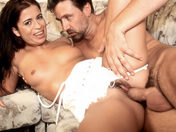 Aphrodite treats herself to two huge cocks in the butt! porn videos