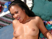 Nasty sunbathing for a beautiful Asian! xxx video