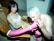 ¡A Papy le gusta los transexuales! sexo video