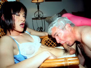 Grandpa gets off on transsexuals!