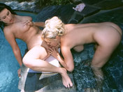 Two mature fountain sluts lie in the middle! xxx video