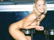 Shagged on the bar, the Waitress ejaculates on the stool! porn video