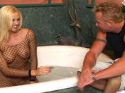 Surprise! This blonde squirts cum through her bum! sex video