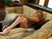 Older wench squirting and dripping wet on her sofa!!! porn video