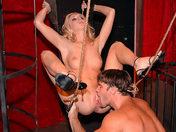Slutty blonde prisoner aged 18 adult video