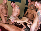 6 guys for her 18th birthday! Anal gang-bang as a gift! xxx video