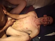 He sticks his thumb in his lover's anus!! gay porn videos