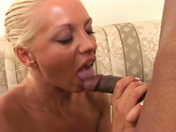 A blonde, well-endowed first timer gets banged by a black guy sex video