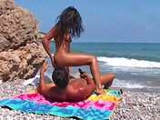 French video: Live sex on the beach! porn videos