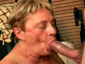 Two older wenches share the same penis sex video