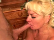 Two older wenches share the same penis xxx video