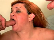 The 45-year-old housewife blows the two engineers adult video
