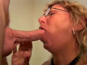 The mamma pulls her son's mate's wire and swallows his spunk!!! adult video