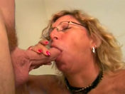 The mamma pulls her son's mate's wire and swallows his spunk!!! sex video