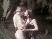 Two beautiful lesbians muff diving outdoors. porn video