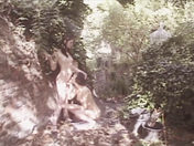 Two beautiful lesbians muff diving outdoors. porn videos