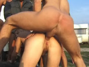 In a squalid corner, a blonde gets fucked from behind porn videos