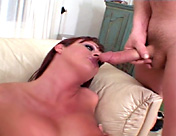 A transsexual slut and two clients in an amazing cock brochette sex video