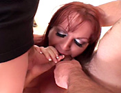 A transsexual slut and two clients in an amazing cock brochette porn video