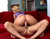 This blonde takes a huge tool up the arse! porn videos