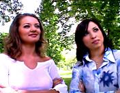 2 babes take a stranger's big knob up their holes... xxx video