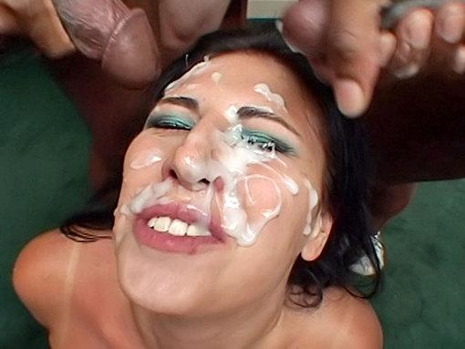 Salope maquillée au sperme video sexe