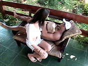 A shemale on my deckchair sex video