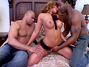A brunette is having a blast with 2 well-endowed black guys porn videos