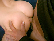 A brunette gets shagged by her father's buddy sex video