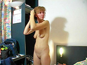 Old shaved bimbo and activated dildo adult video