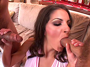 Winning threesome for anal pounding adult video