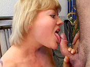 Swinging couple and cum swallowing blonde porn video