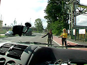 Hitchhiking duo and voracious fellatio  adult video