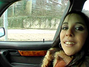 Hitchhiker in fur coat and greedy deep-throat porn video