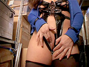 Mature SM slut in a warehouse adult video