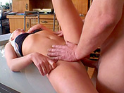 Vicious blonde screwed by a passionate worker adult video