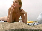 A voyeur films a college girl on the sly on a nudist beach sex video