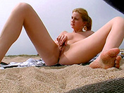 A voyeur films a college girl on the sly on a nudist beach porn video