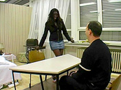 A black slut has a job interview porn videos