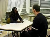 Una guarra negra tiene una entrevista de trabajo sexo video