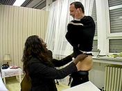 Une black salope fait passer un entretien d'embauche