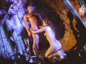 Acrobatic fuck under a waterfall! porn videos