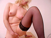 After her speech, she gives herself pleasure adult video