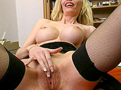 Busty blonde for mind-blowing orgasm sex video