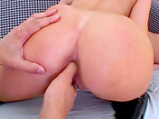 Cocksucking blonde getting bum-fucked xxx video