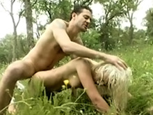 A blonde will most definitely suck your dick on a picnic!