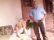 Gorgeous Blonde trannie fucked in the garden! porn videos