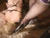A Redheaded Dominatrix and a Blonde Slave! sex video