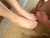 Una bella mora per feticista dei piedi